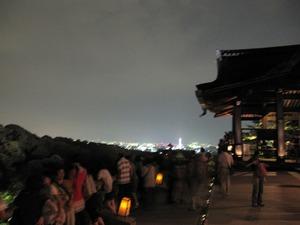 京都市内の夜景 清水の舞台より