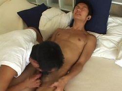 [ゲイ動画] もう出ちゃいます~!スジ筋ノンケが初めてのゲイフェラ体験に暴走射精ww