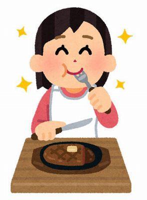 【画像あり】とんでもない量の肉を食べる女wwwwwwww