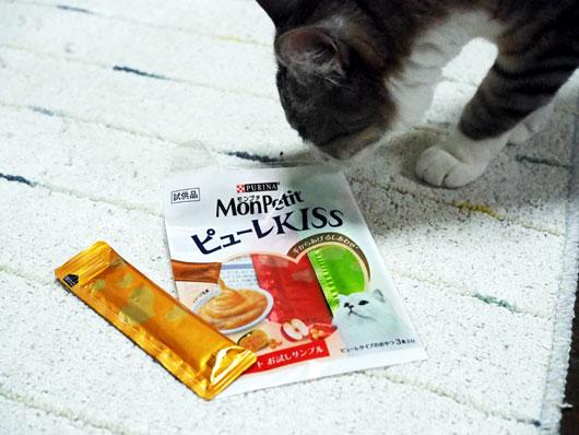 モンプチピューレKISSと猫