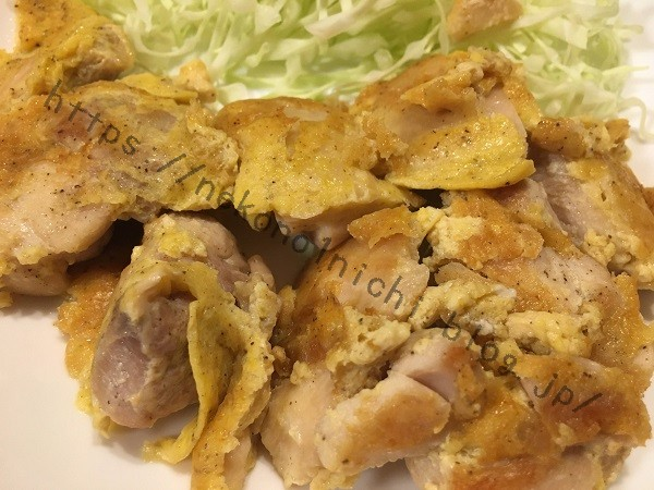 ねこ飯-鶏肉のピカタ2
