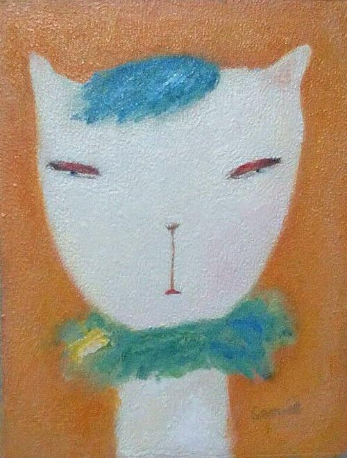 青いモフの猫