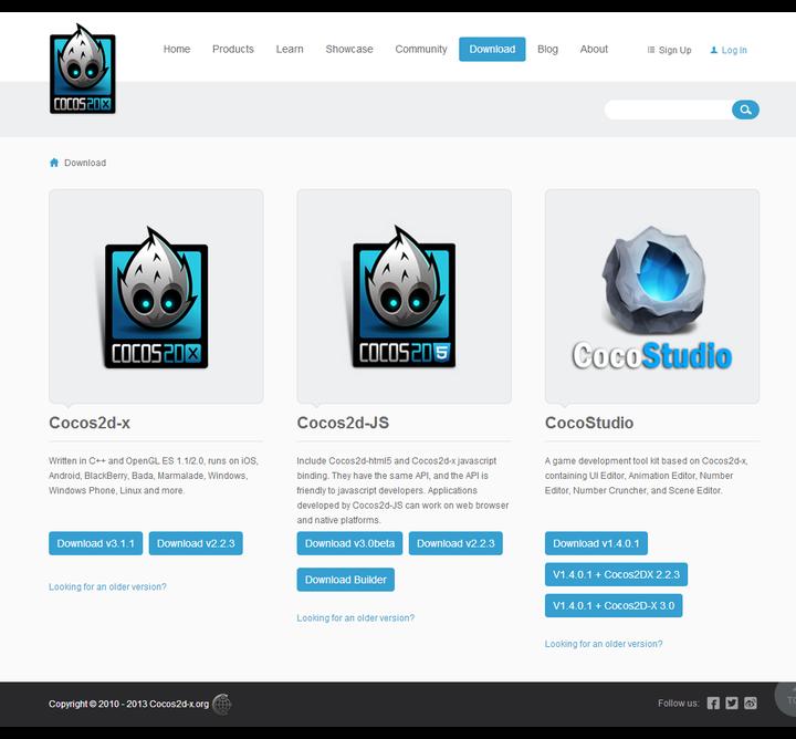 Download Cocos2d-x Cocos2d-html5 CocoStudio   Cocos2d-x