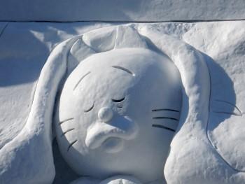 2015雪まつりタマの雪像