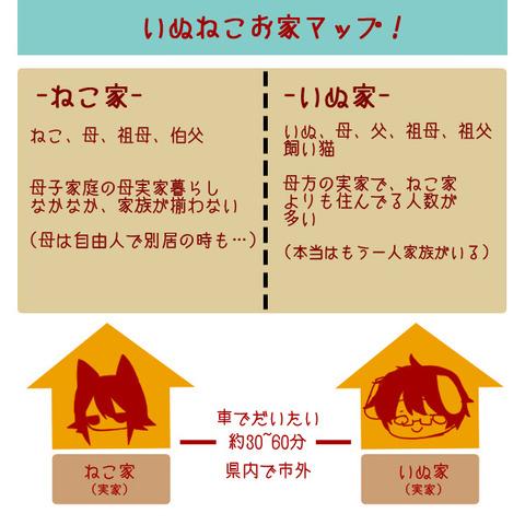【2014年】いぬねこお家マップ!&いぬねこ詳細profile!