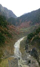黒部川と渓谷