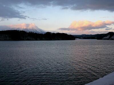 御所湖夕景