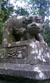 中生保内神社の狛犬1