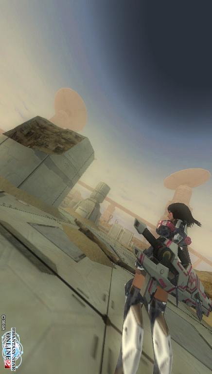 砂漠の空と廃墟