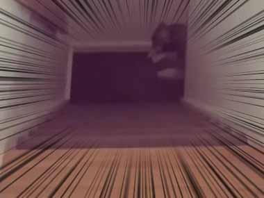 大きなイヌが「階段」を駆け上がってくる → スローで撮ってみたらこんな感じ…
