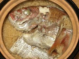 生還記念日の鯛飯