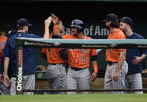318Astros Orioles Baseball