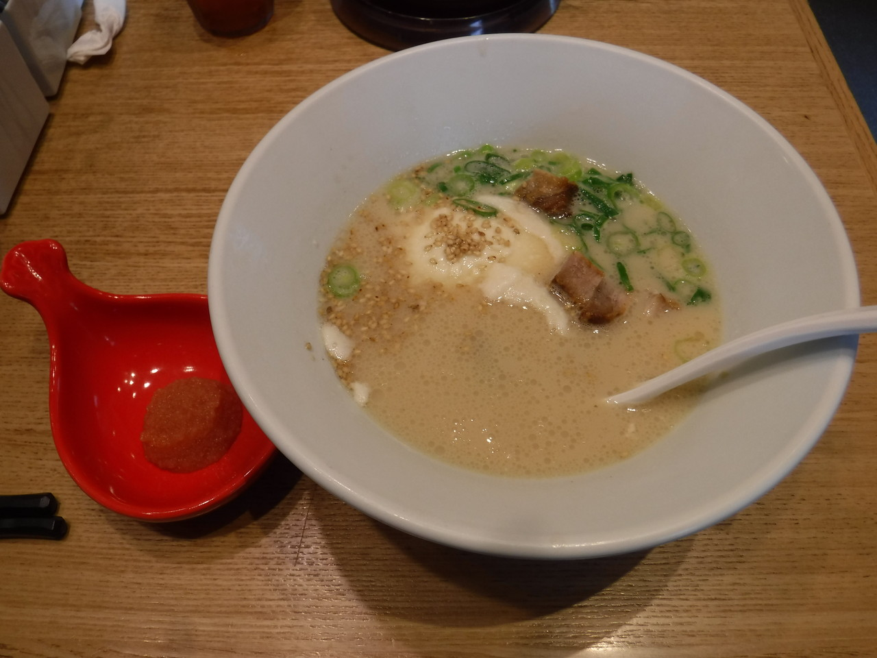 飯田橋 - 一風堂 飯田橋サクラテラス店 「白丸とんこつ豆腐」