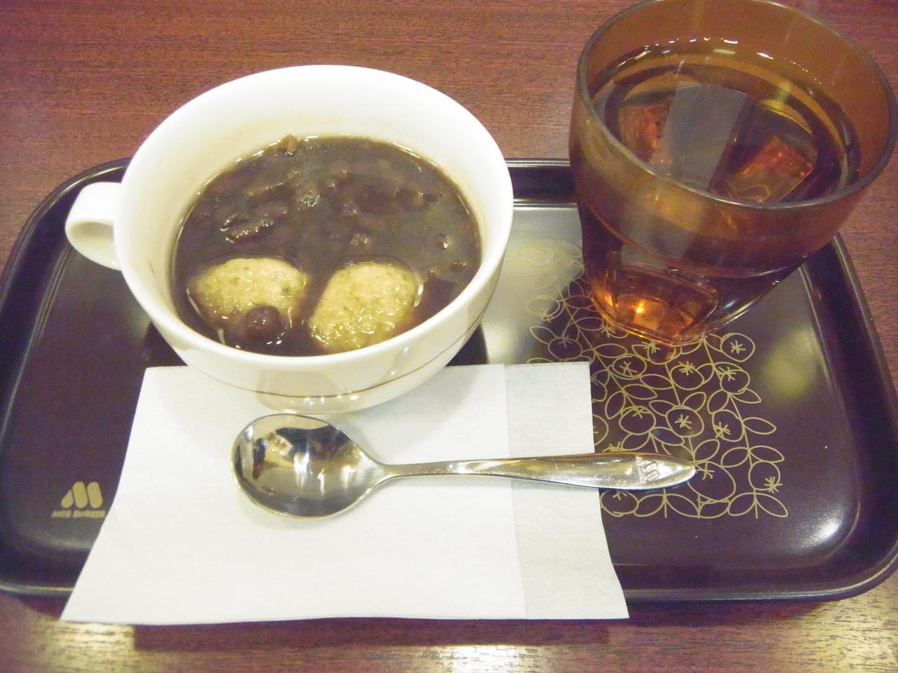 東久留米 - モスバーガー 東久留米駅店 「玄米餅のおしるこ ¥320(税込)」