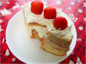 グルテンフリー 米粉のシフォンケーキ クリスマスケーキ