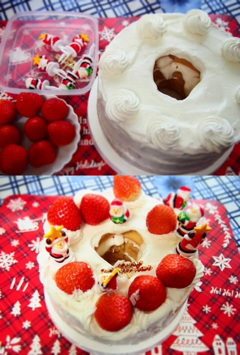 グルテンフリー 米粉シフォン クリスマスケーキ