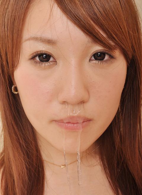 水沢えみりちゃん(22)の鼻水
