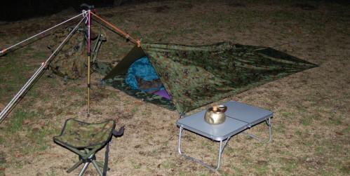 前線基地完成! 前線基地完成! 腹が減ったので、晩御飯にしましょう! 今夜は贅沢に焼き... 自