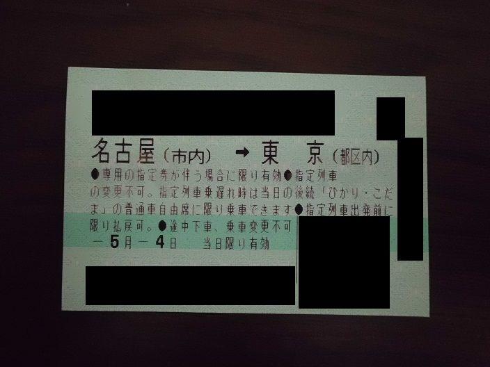 この切符、1番安かったけど1万円近くしたんだぜ…。