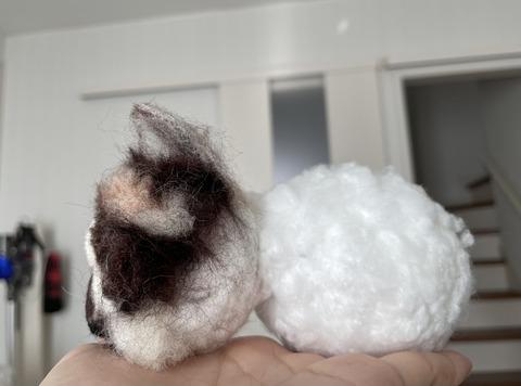 猫の羊毛フェルト