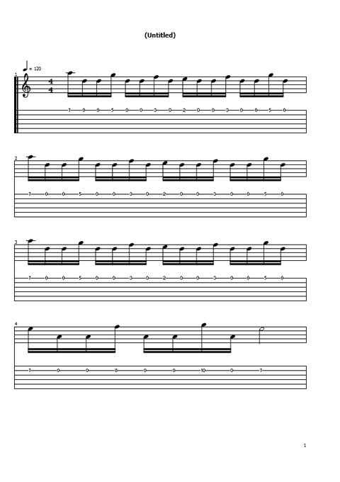 オルタネイト練習曲1の1