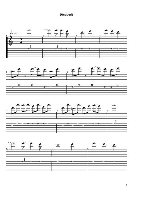 オルタネイト練習曲2の1