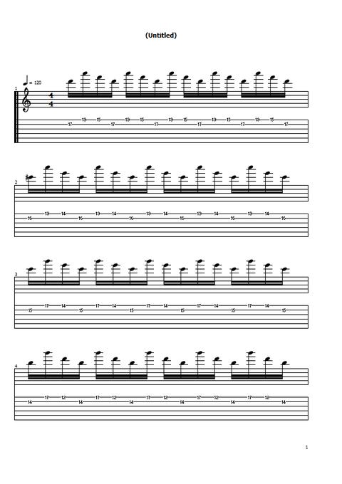 オルタネイト練習曲5の1