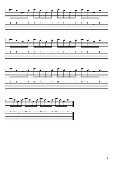 2弦スウィープ高音2
