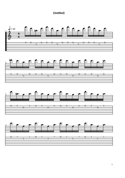 2弦スウィープ高音1