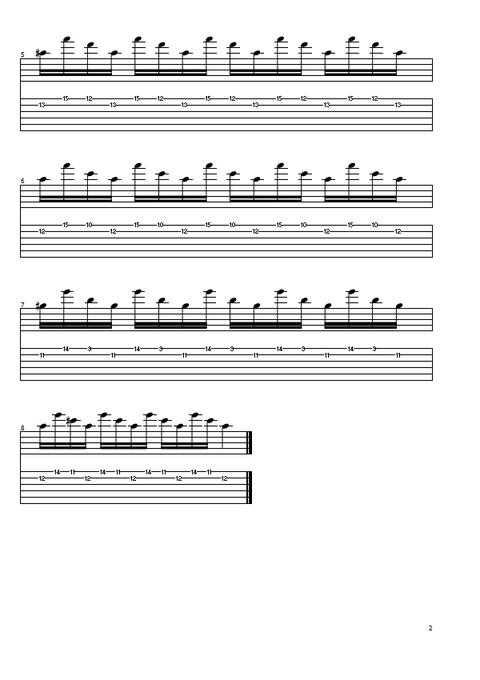 オルタネイト練習曲5の2