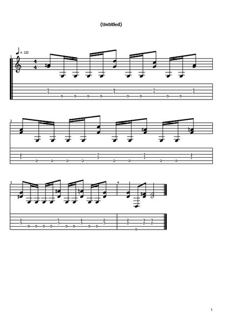 ギターリフ1