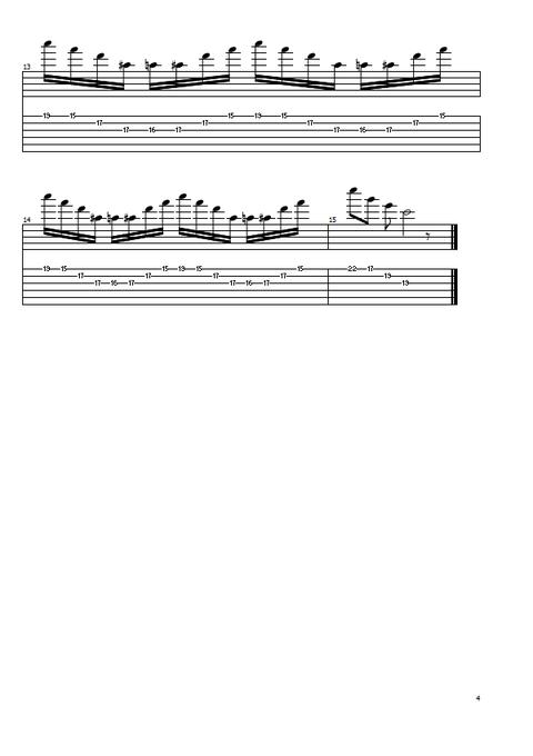 3弦スウィープ4和音4