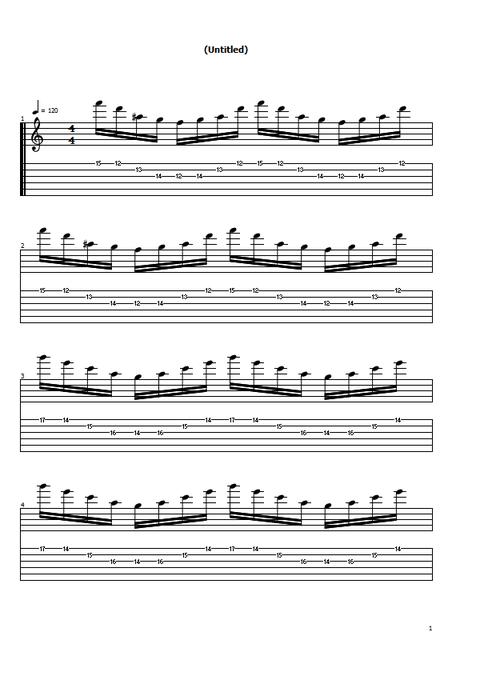 3弦スウィープ4和音