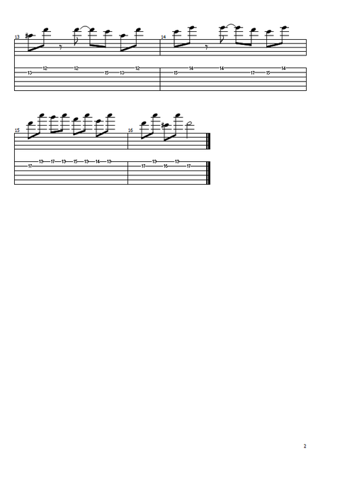 オルタネイト練習曲2の2