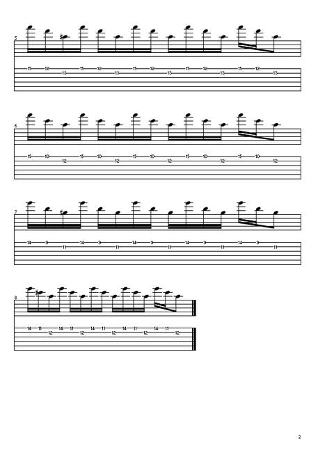 オルタネイト練習曲4の2