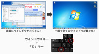 windows + D