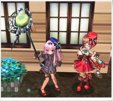 アルケミストロッド(銀)と秘薬師セット(紫)