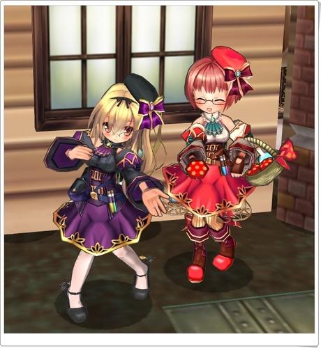 錬金術師セット(紫)とマタンゴ(おいしいキノコはいかが?)
