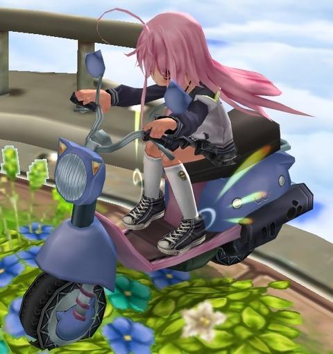 ネコスクーター騎乗 側面
