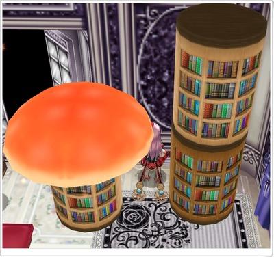 きのこの本棚(傘なし・ライトブラウンとダークブラウン)