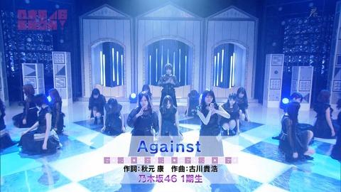【乃木坂46】1期生曲『Against』フルVerスタジオライブ披露キター!【乃木坂46SHOW】