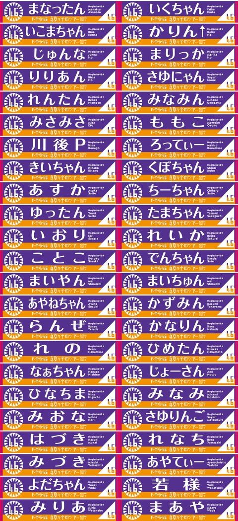 """【乃木坂46】『真夏の全国ツアー2017』ニックネーム""""推しメンマフラータオル""""一覧を公開!"""