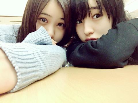 【乃木坂46】星野みなみがHKT48田島芽瑠との『スッピン2ショット』を公開!目がキラキラで綺麗だなw