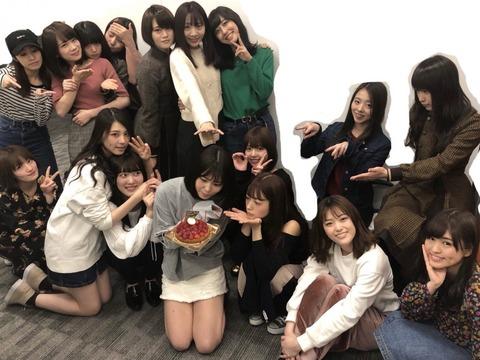 【乃木坂46】川後陽菜 ブログ更新!46時間TV前にメンバーに誕生日を祝ってもらった模様!飛鳥ちゃん睨まないでwww