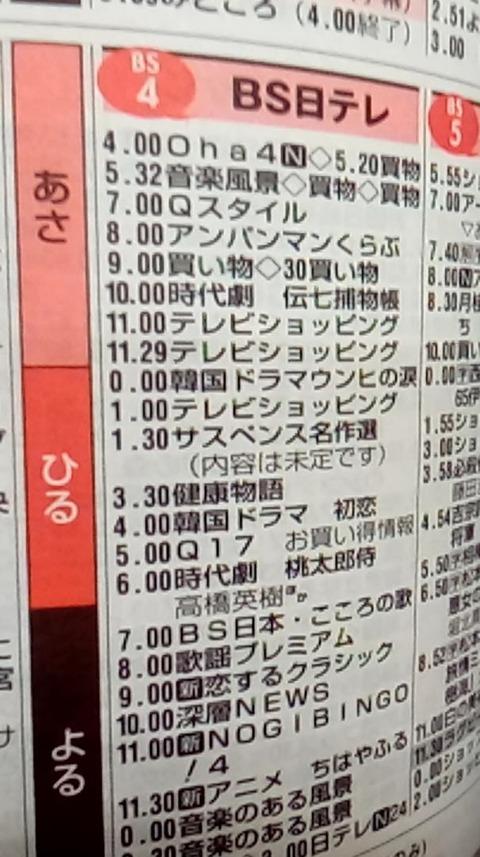 【乃木坂46】4月2日23:00~BS日テレ『NOGIBINGO!4』がスタート。新番組ってこれのこと?