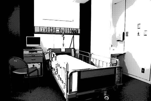 「出る」と有名だった病棟の個室にて