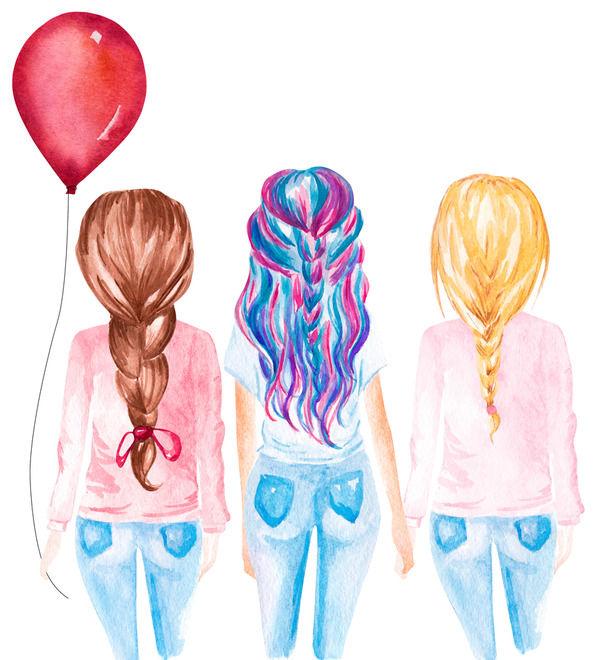 幼馴染の三姉妹の話する