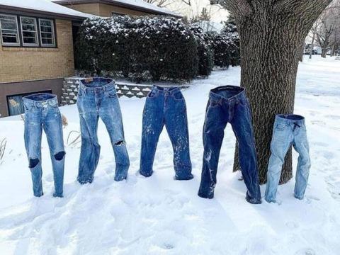 冬のジーンズファミリー