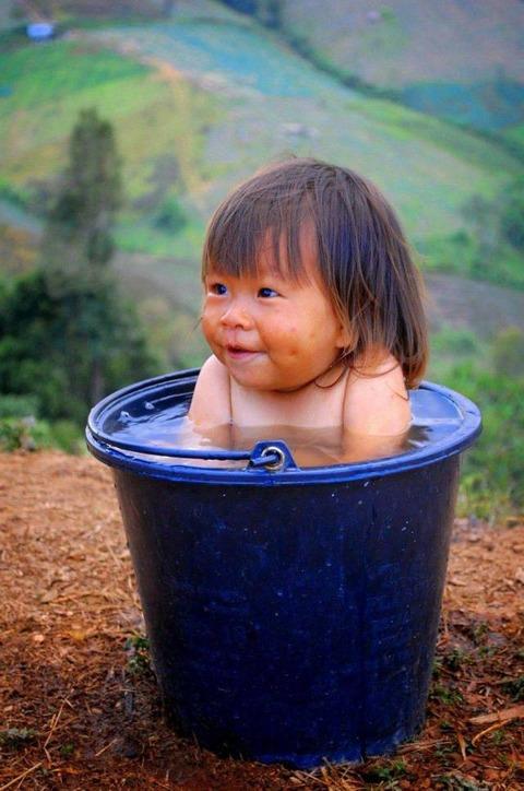 バケツ風呂