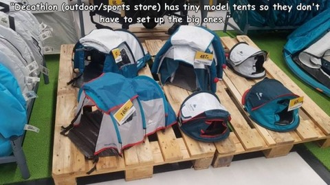 テントを張る練習に張るテント